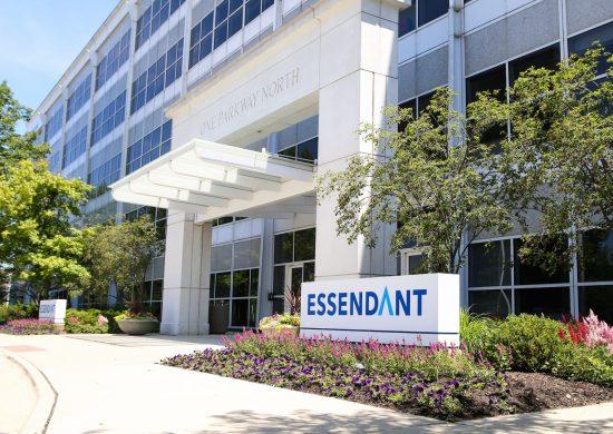 Exterior of front building of Essendant Corporate Headquarters in Deerfield